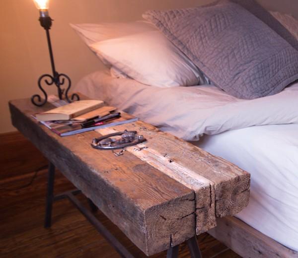 Reclaimed Bedside